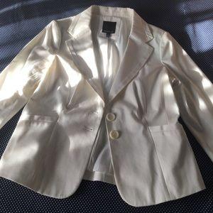 The Limited sharp white blazer jacket